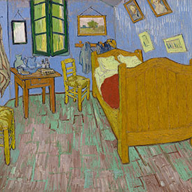 Vincent van Gogh. <em>The Bedroom</em>, 1889. The Art Institute of Chicago, Helen Birch Bartlett Memorial Collection.