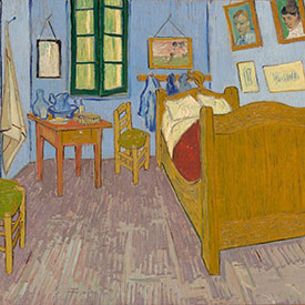 Vincent van Gogh. <em>The Bedroom</em>, 1889. Mus&eacute;e d'Orsay, Paris, sold to national museums under the Treaty of Peace with Japan, 1959.