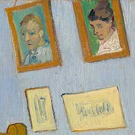 Vincent van Gogh. <em>The Bedroom</em> (Portraits detail), 1889. Mus&eacute;e d'Orsay, Paris, sold to national museums under the Treaty of Peace with Japan, 1959.