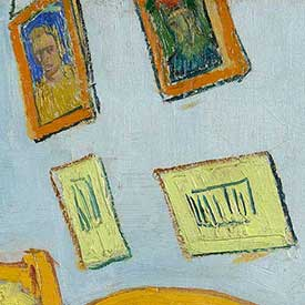 Vincent van Gogh. <em>The Bedroom</em> (Portraits detail), 1888. Van Gogh Museum, Amsterdam (Vincent van Gogh Foundation).